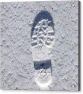 Footprint In Snow Acrylic Print