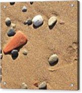 Footprint On Sand Acrylic Print