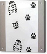 Footprints- Friends Acrylic Print