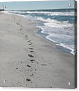 Footsprints In The Sand Acrylic Print