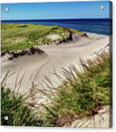 Footsteps In The Dunes Acrylic Print