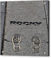 Footsteps - Rocky Acrylic Print