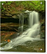 Forbes State Forest Cole Run Cave Falls Acrylic Print