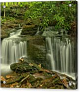 Forbes State Forest Twin Falls Acrylic Print