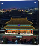 Forbidden City By Night Acrylic Print