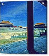 Forbidden City Porch Acrylic Print