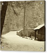 Forbidden Drive In Winter Acrylic Print by Bill Cannon