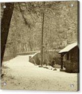 Forbidden Drive In Winter Acrylic Print