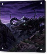 Forbidden Land Of The Beasts Descent Acrylic Print