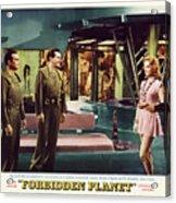 Forbidden Planet In Cinemascope Retro Classic Movie Poster Indoors Acrylic Print