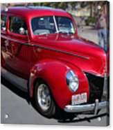 Ford 40 In Red Acrylic Print