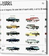 Ford Auto/edsel Ad, 1957 Acrylic Print