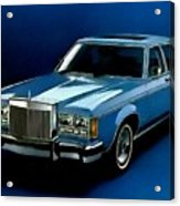 Ford Lincoln Versailles 1981 - American Dream Cars Catus 1 No. 2 H B Acrylic Print