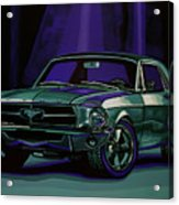 Ford Mustang 1967 Painting Acrylic Print