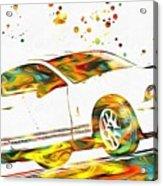 Ford Mustang Paint Splatter Acrylic Print