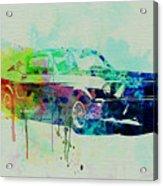 Ford Mustang Watercolor 2 Acrylic Print