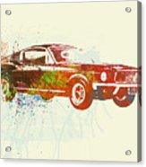 Ford Mustang Watercolor Acrylic Print