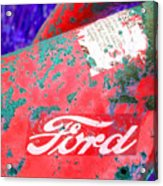 Ford Red Acrylic Print