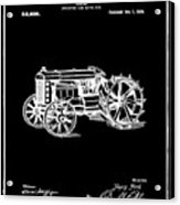 Ford Tractor Patent 1919 Black Acrylic Print