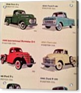 Ford Truck Stamps Acrylic Print