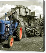Fordson And The Threshing Machine Acrylic Print