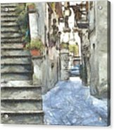 Foreshortening With Stairs Acrylic Print