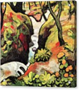 Forest Brook By August Macke Acrylic Print