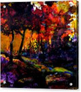 Forest Flames Acrylic Print
