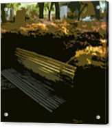 Forest Gump's Bench Acrylic Print