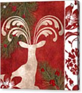 Forest Holiday Christmas Deer Acrylic Print