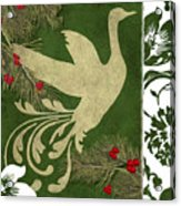 Forest Holiday Christmas Goose Acrylic Print