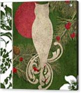 Forest Holiday Christmas Owl Acrylic Print