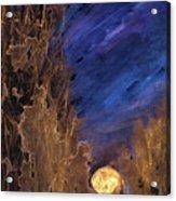 Forest Moonrise Glow Acrylic Print