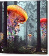 Forest Of Jellyfish Worlds Acrylic Print