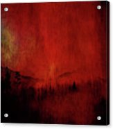 Forest Red Acrylic Print