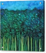 Forest Under The Full Moon - Abstract Acrylic Print