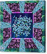 Forget Me Nots Fabric By Clothworks Acrylic Print