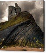Forgotten Castle In Ballybunion Acrylic Print