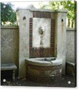 Forgotten Fountain Acrylic Print