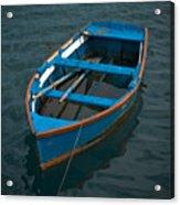 Forgotten Little Blue Boat Acrylic Print