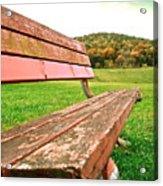 Forgotten Park Bench Acrylic Print
