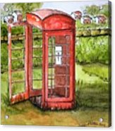 Forgotten Phone Booth Acrylic Print