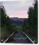 Forgotten Train Track Acrylic Print