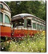 Forgotten Trains Acrylic Print