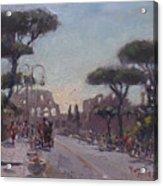 Fori Romani - Street To Colosseo Acrylic Print