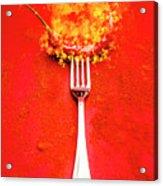 Forking Hot Food Acrylic Print