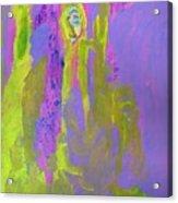 Forlorn In Purple And Yellow Acrylic Print
