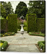 Quiet Garden Space At Niagara Falls Botanical Gardens Acrylic Print