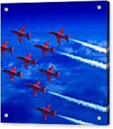 Formation Flying Britains Red Arrows Acrylic Print