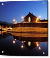 Former Prison Wolvenplein In Utrecht In The Evening 20 Acrylic Print